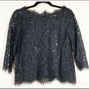 Joie black, lace top